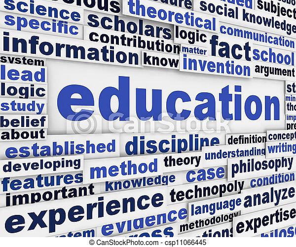 Diseño de posters de educación - csp11066445