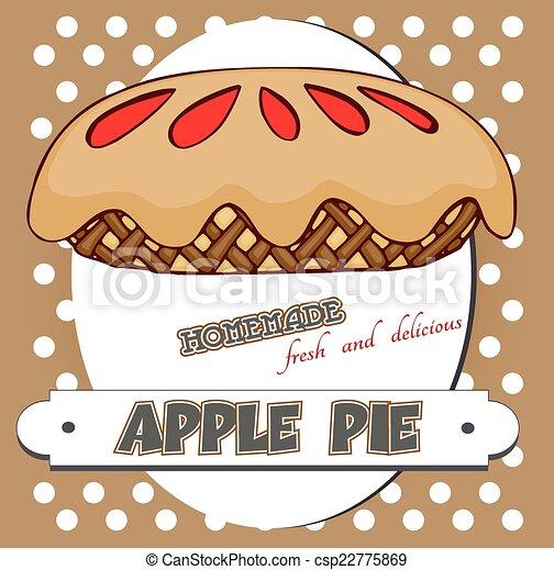 Un póster de tarta de manzana - csp22775869