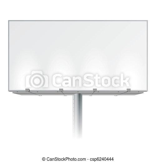 Un cartel publicitario en blanco - csp6240444