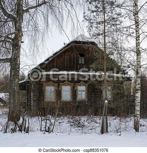 casa, aldea, abandonado - csp88351076