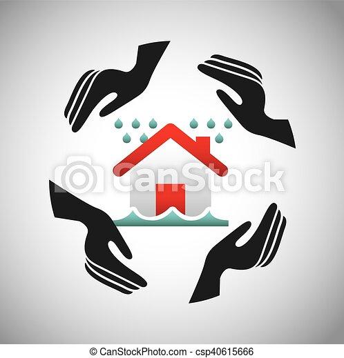 El icono del concepto de seguro de la casa - csp40615666