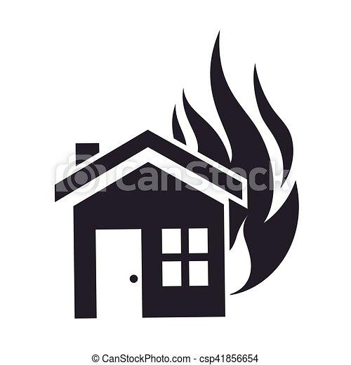 El icono del concepto de seguro de la casa - csp41856654
