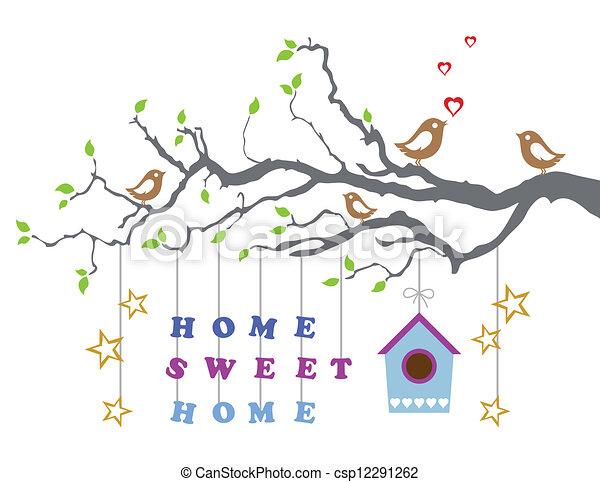 Hogar dulce hogar, nueva casa - csp12291262
