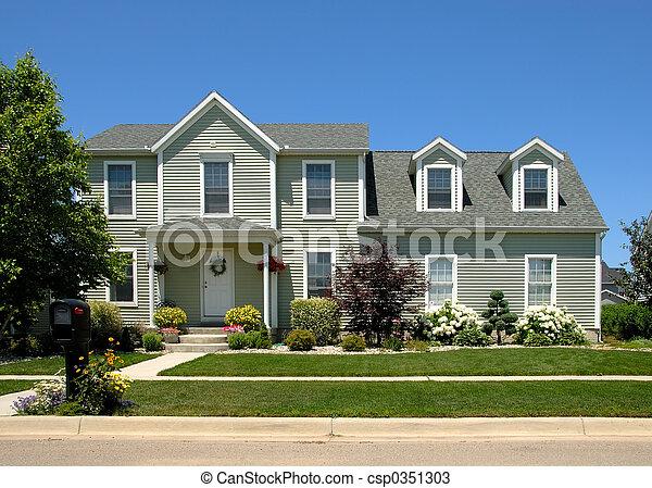 Casa en verano - csp0351303