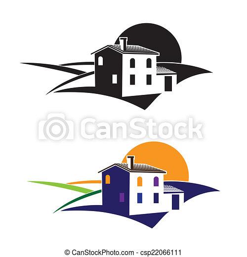 Casa de campo en los campos - csp22066111