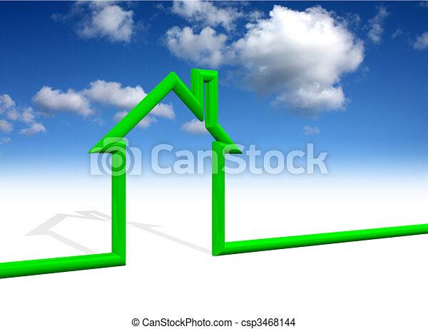 Simbolo de la casa con fondo del cielo - csp3468144