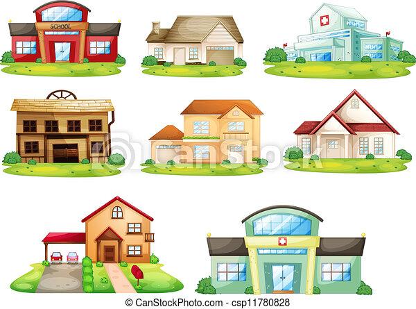 Casas y otros edificios - csp11780828