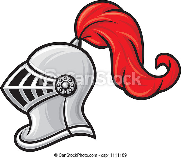 casco de caballero medieval - csp11111189