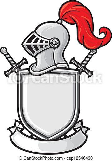 casco de caballero medieval - csp12546430