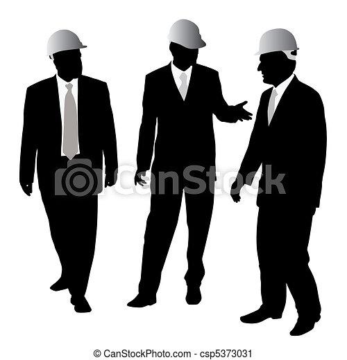 Hombres de negocios con casco protector - csp5373031
