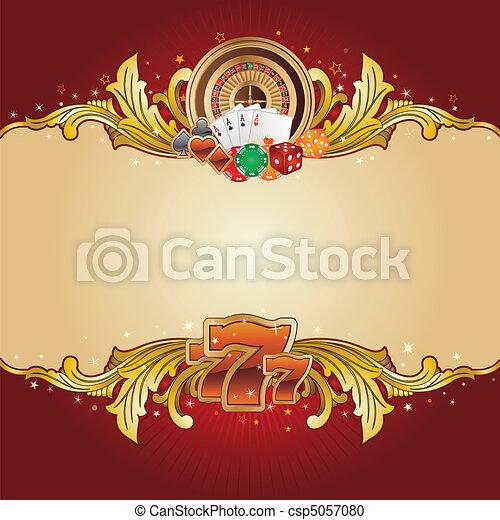 Un fondo casino - csp5057080