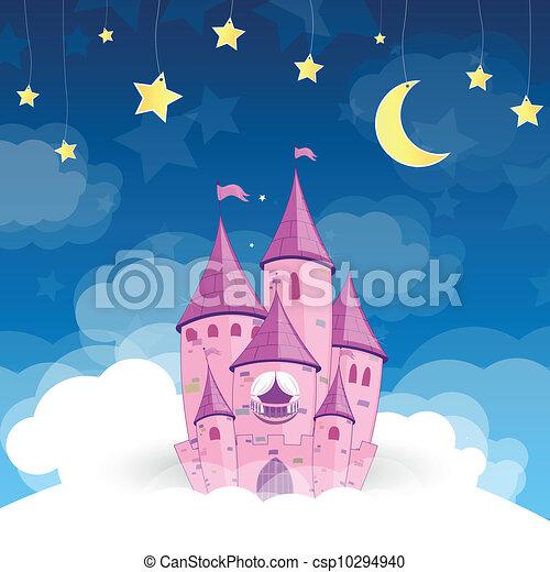 La princesa vector sueña con el castillo - csp10294940