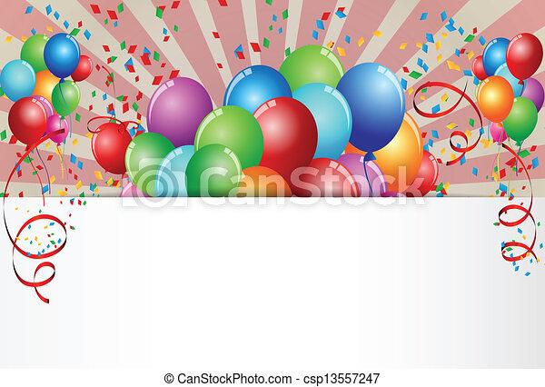 Celebración de cumpleaños - csp13557247