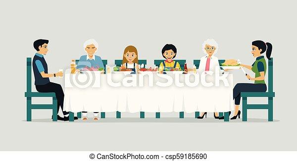 Cena familiar - csp59185690