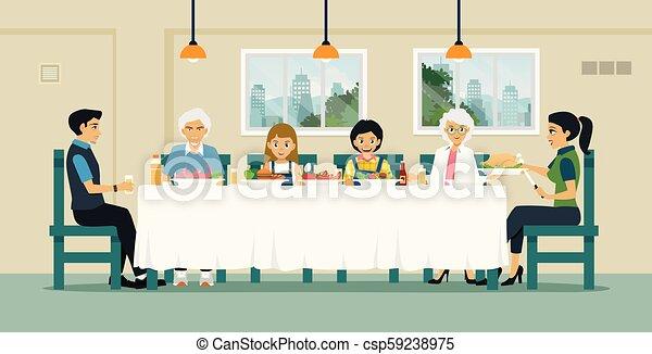 Cena familiar - csp59238975