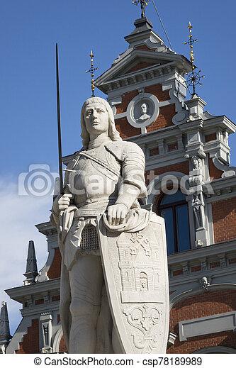 central, riga, monumento, roland, cuadrado, letonia, s. - csp78189989