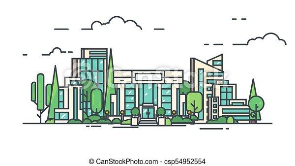 Centro comercial de la ciudad - csp54952554