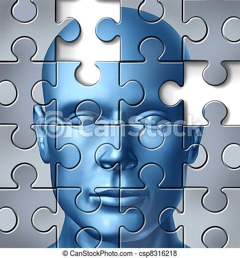 Investigación médica del cerebro humano - csp8316218