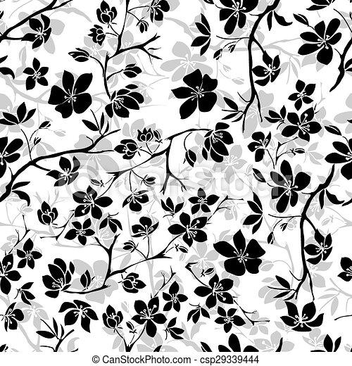 Flores de cerezo. Sin costura - csp29339444
