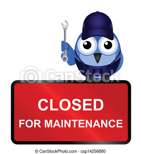 Cerrado para señal de mantenimiento - csp14256880