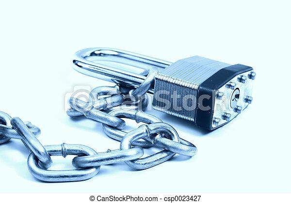 Cerrado y encadenado - csp0023427