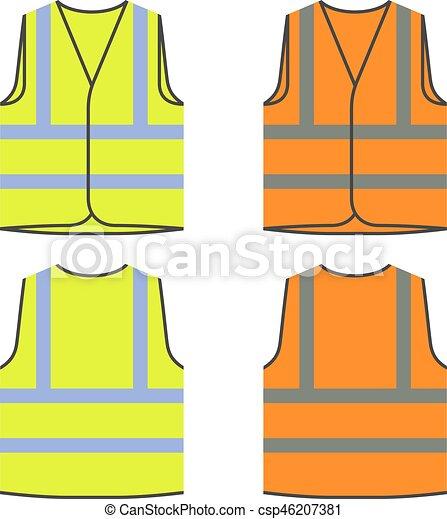 Chaleco de seguridad reflectante naranja amarilla - csp46207381
