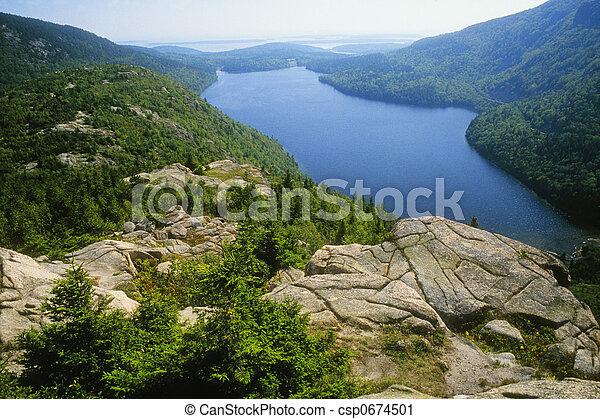 El estanque Jordon - csp0674501