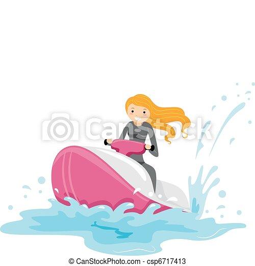 Chica de esquí - csp6717413