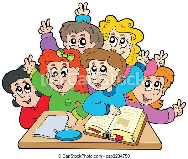 Chicos de escuela - csp3234750