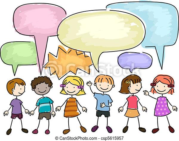 Chicos hablando - csp5615957