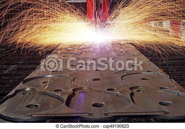 Láser industrial con chispas - csp49190623