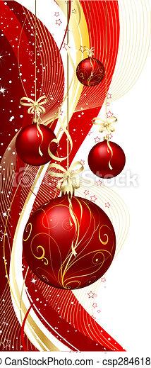 Baubles de Navidad - csp2846189
