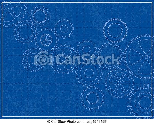 Antecedentes de planos con engranajes - csp4942498