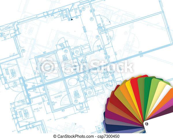 Planta y paleta de colores - csp7300450