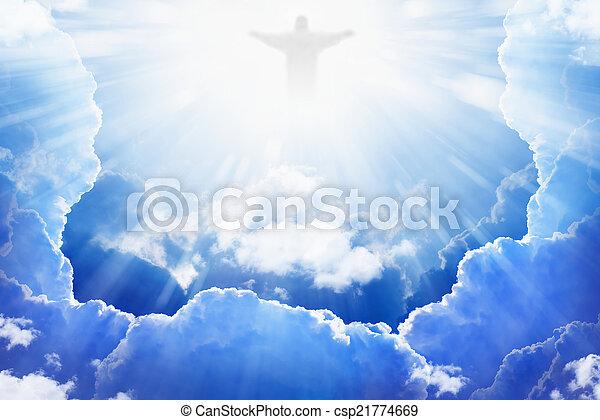 Jesucristo en el cielo - csp21774669