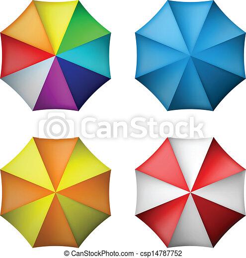 Umbrella puesta desde la vista superior - csp14787752