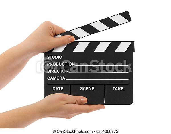 Cine en manos - csp4868775