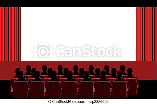 Cine, habitación roja - csp2326595
