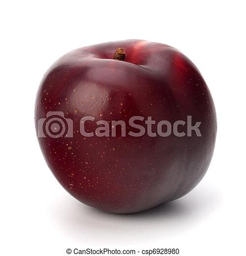 Fruta de ciruela roja - csp6928980