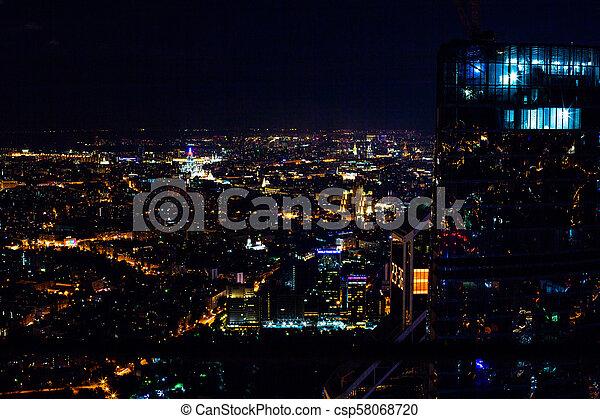 Vista aérea por la noche - csp58068720