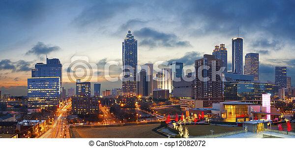 Ciudad de Atlanta. - csp12082072