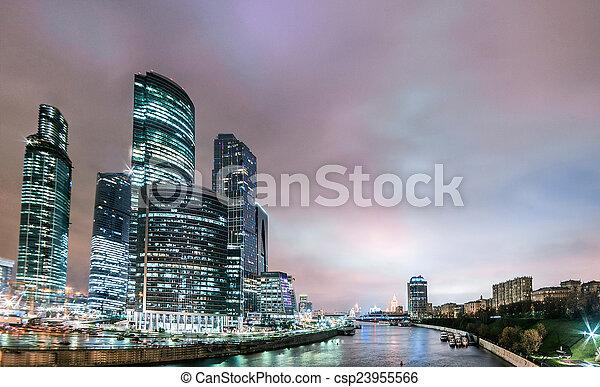 Ciudad de oficina - csp23955566