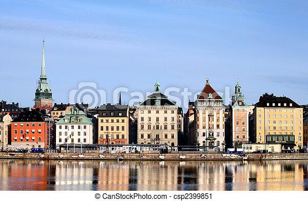 La ciudad de Estocolmo - csp2399851