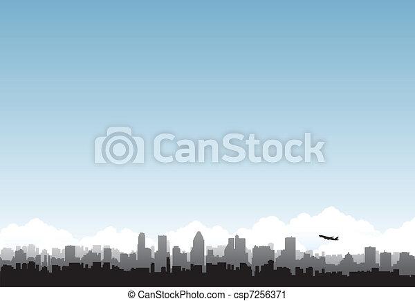 El horizonte de la ciudad - csp7256371