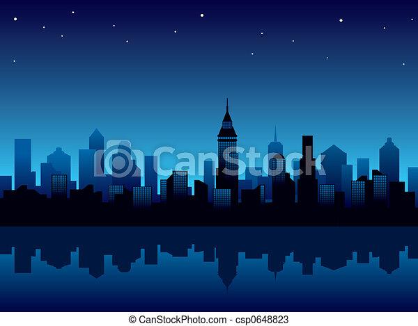 Noche de ciudad - csp0648823