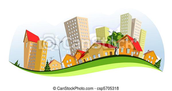 Vector City - verano - csp5705318