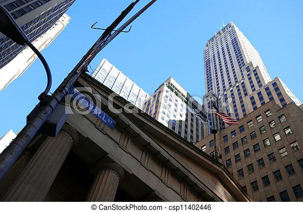 Clásico NY - calle de pared - csp11402446