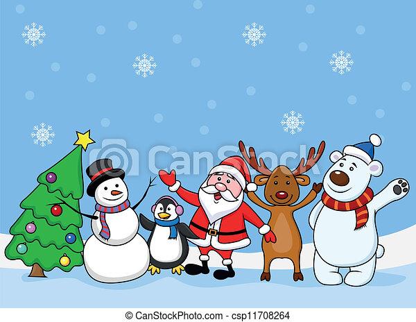 Santa Claus con un amigo - csp11708264