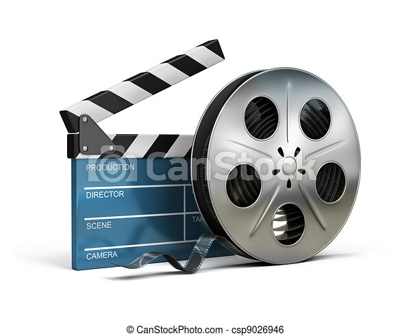 Claqueta de cine y cinta - csp9026946