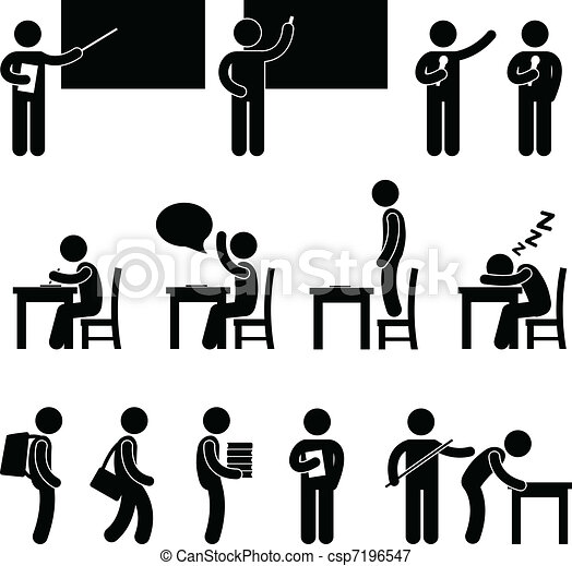 La clase de maestros de escuela - csp7196547